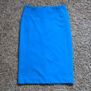 Express Pencil Skirt - Blue/Turquoise